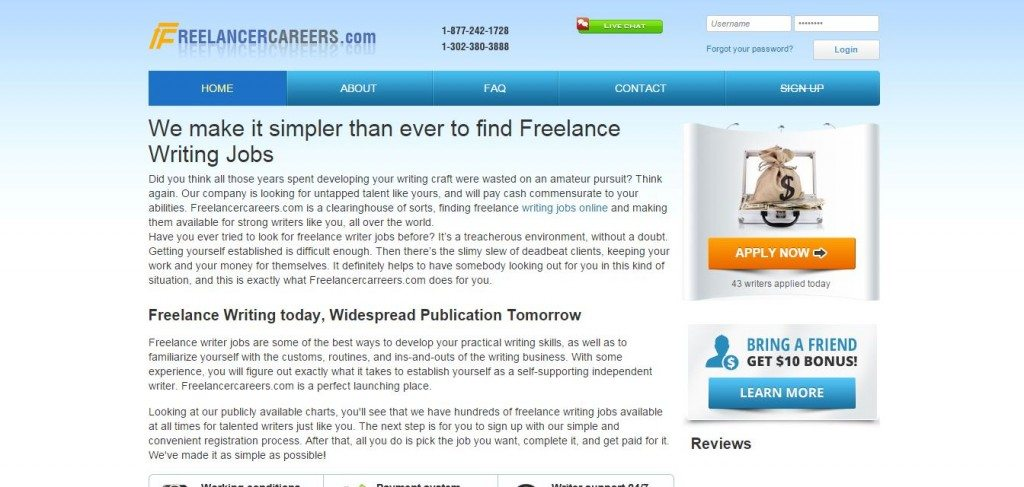 freelance careers