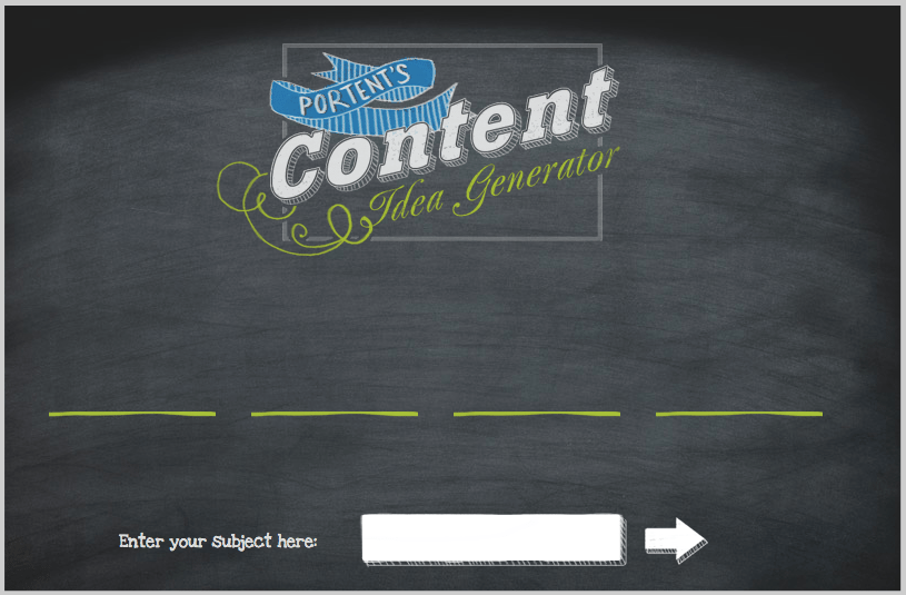 Blog post idea generator portent