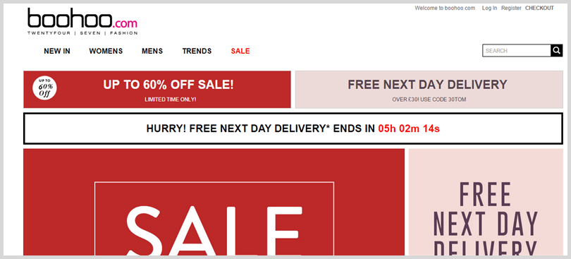 Boohoo value proposition example