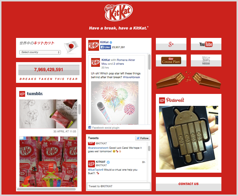 Kit Kat social visual