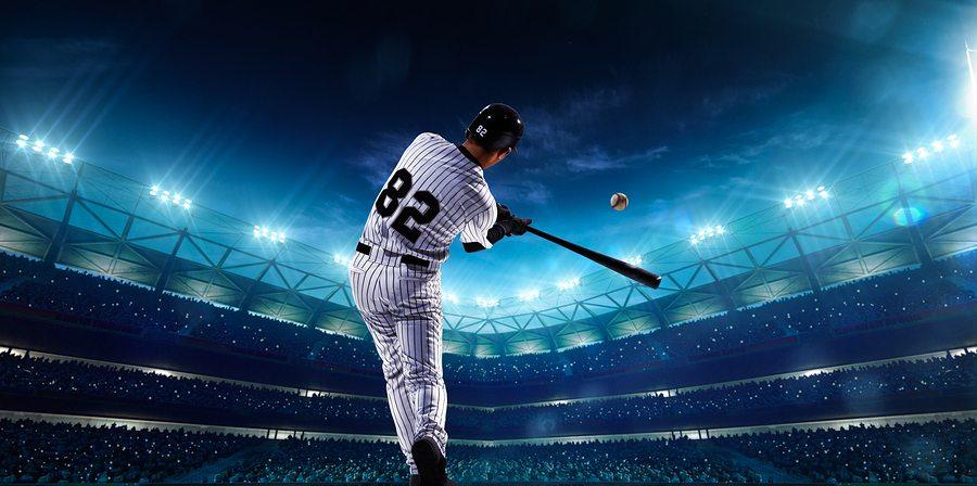 Online meeting header image - baseball home run