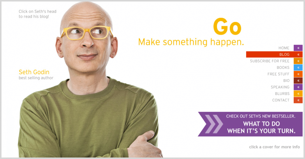 Seth Godin - short length blogs