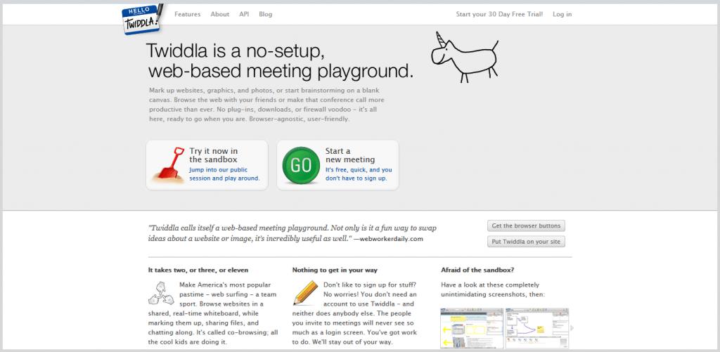 Twiddla meeting tool screenshot