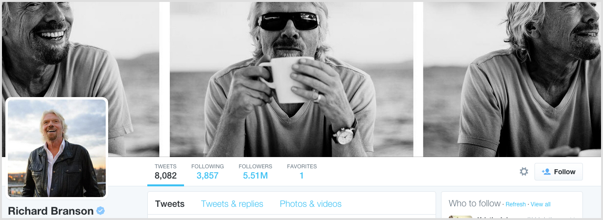Twitter profile designs