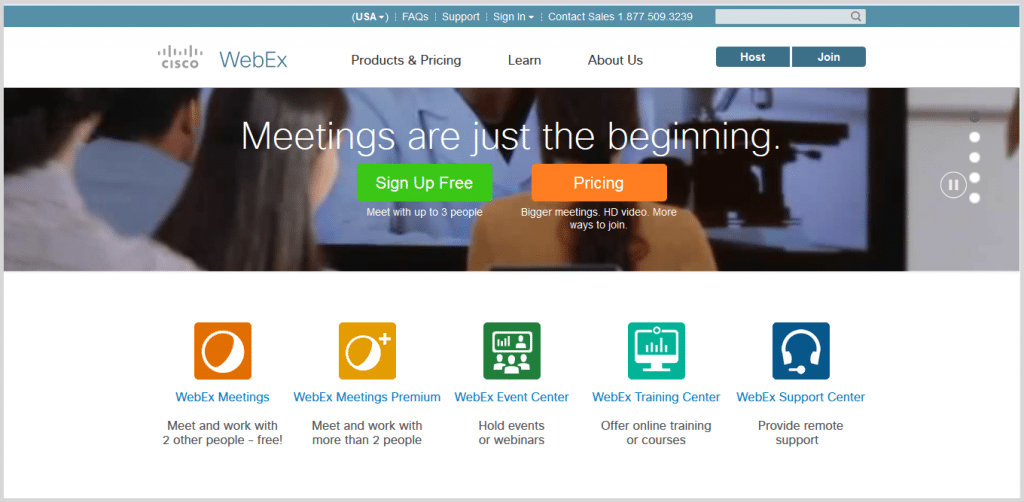 WebEx online meeting tool
