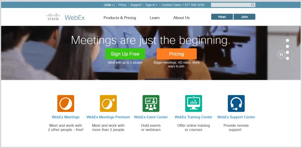 WebEx online meeting tool