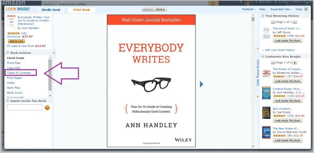 Ann Handley eBook in Amazon for blog post ideas
