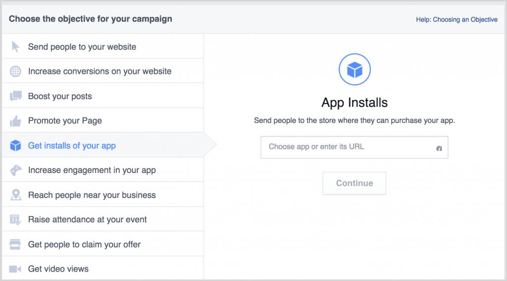 Mobile app installs screenshot