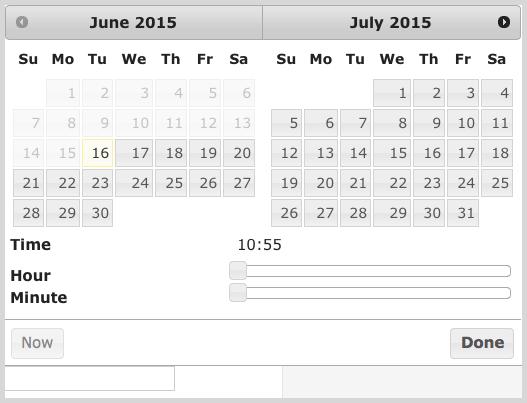 Pinterest calendar example screenshot