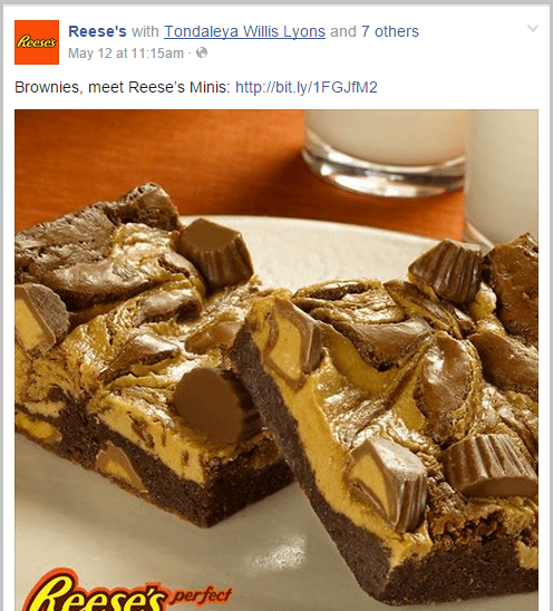 Reese's Facebook post example