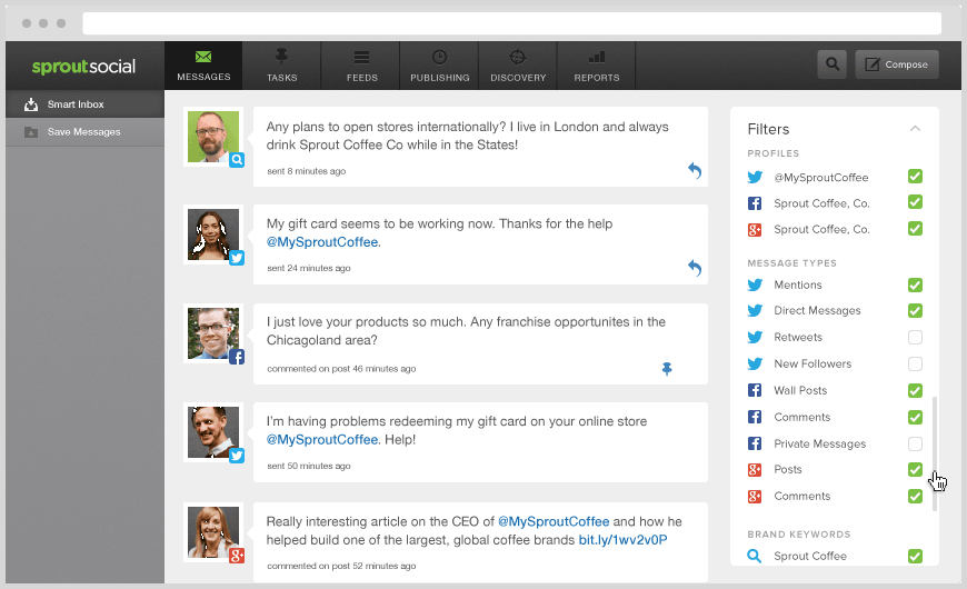 Sproutsocial screenshot for social media content