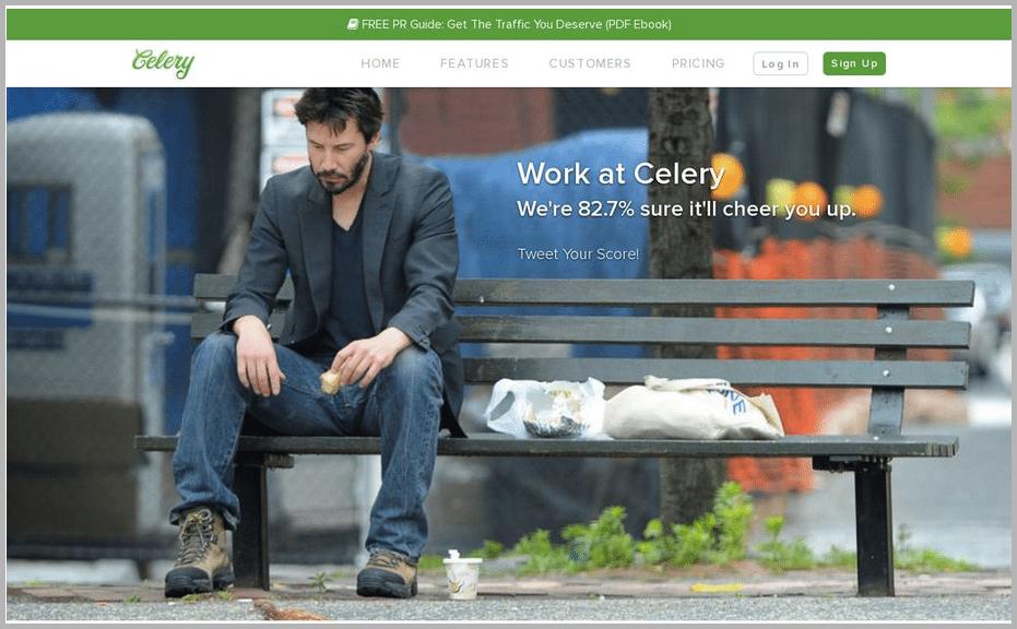 Celery web design example