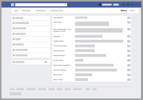 Facebook page design screenshot 2