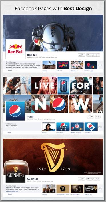 Facebook page design screenshot 5