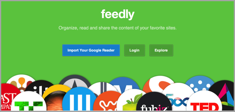 Feedly content apps