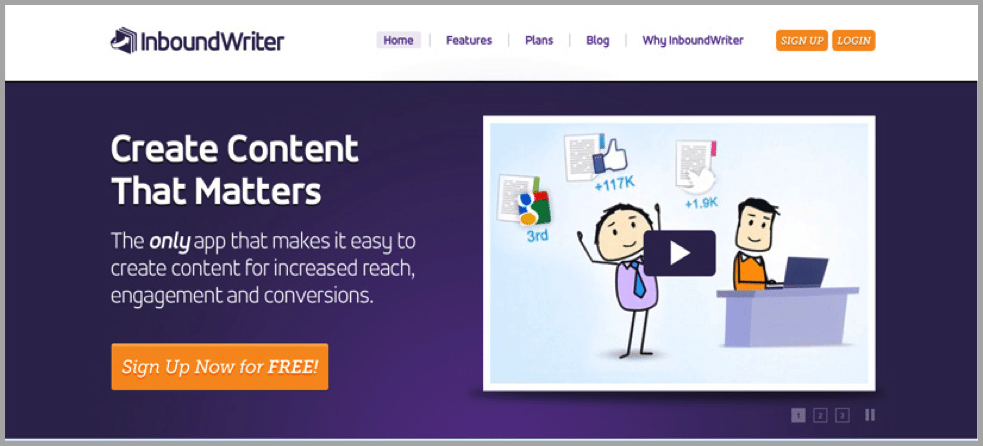 InboundWriter portal image for content creations apps