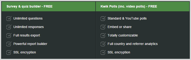 KwikSurveys screenshot