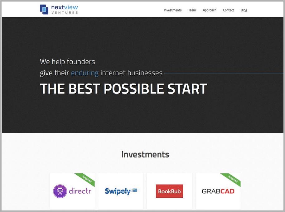 NextView web design example