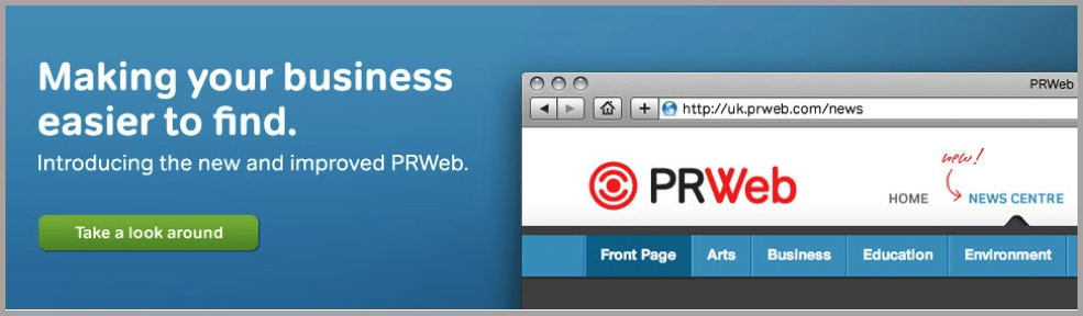 PRWeb image for content creations apps