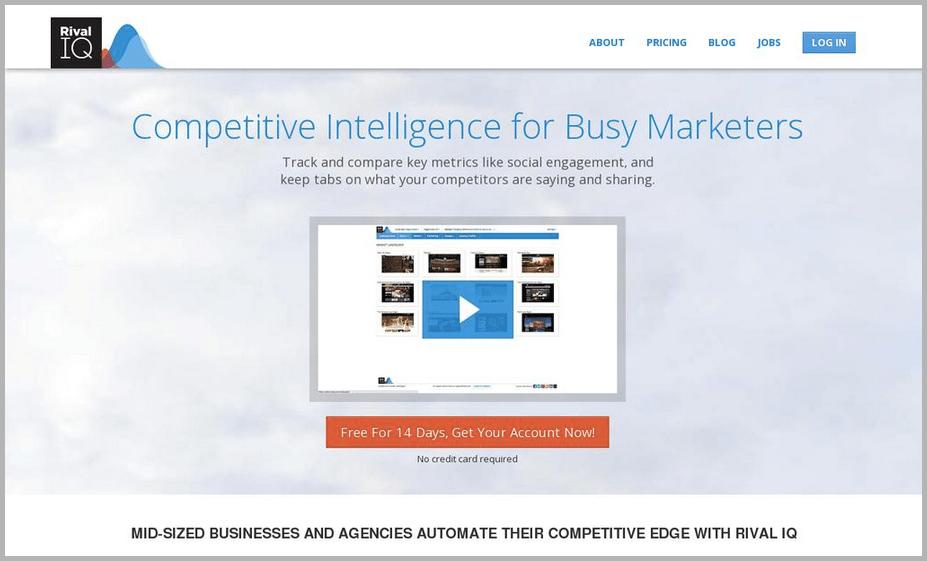 Rival IQ web design example