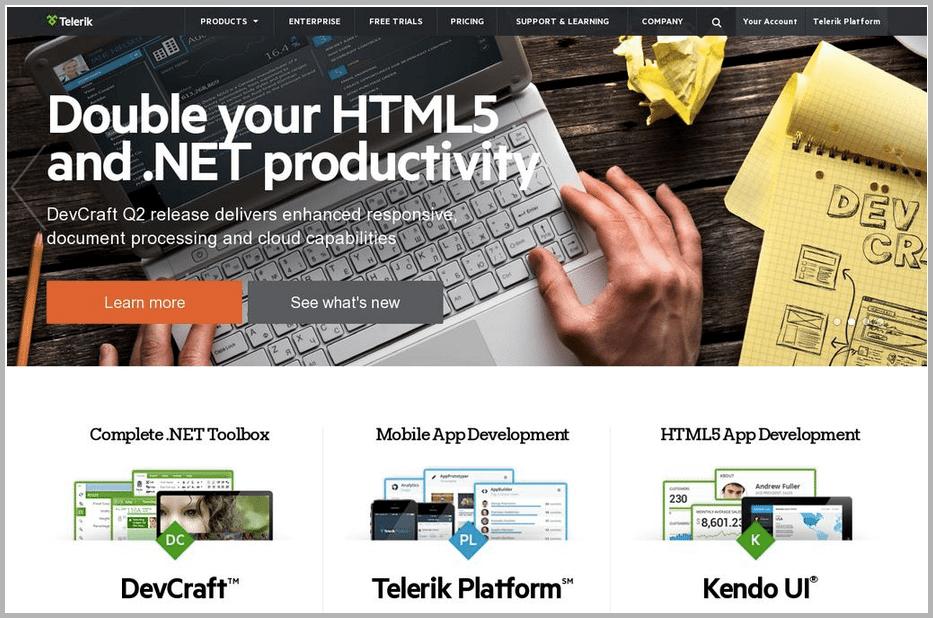 Telerik web design example