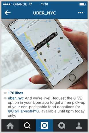 Uber Instagram Screenshot