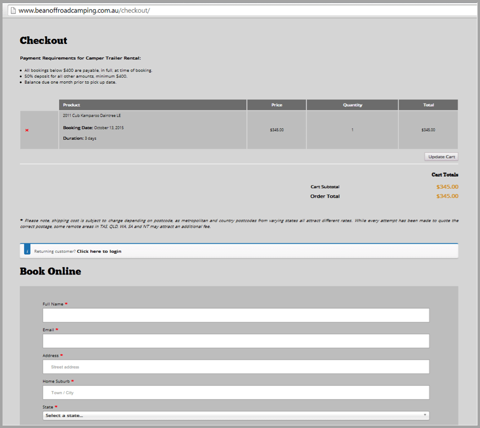 Checkout example - Won't buy from your website