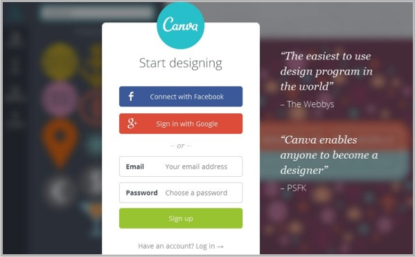 Creating infographics with Canva