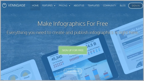 Creating infographics with Venngage