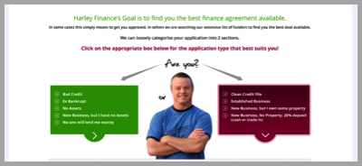 Harley Finance image example - Won't buy from your website