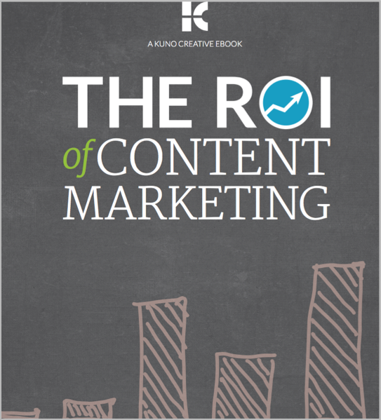 ROI Content ebook every content marketer should read