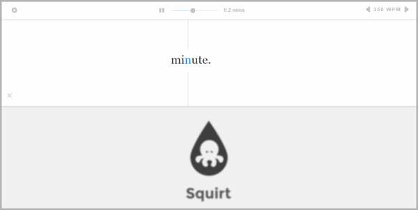 Squirt - example of writing tools for content marketing
