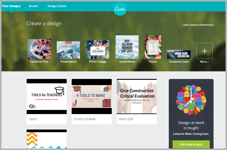 canva - tools for content marketers