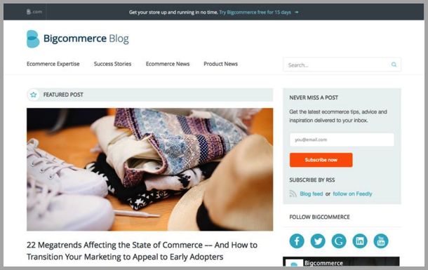 Bigcommerce - Top 50 Marketing Blogs