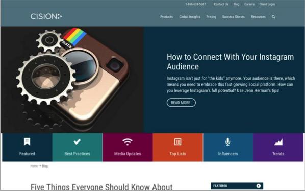 Cision - Top 50 Marketing Blogs