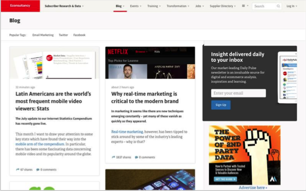 Econsultancy - Top 50 Marketing Blogs