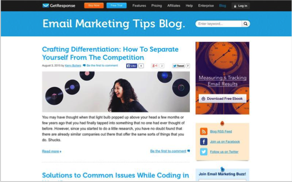 GetResponse - Top 50 Marketing Blogs