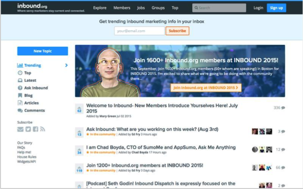 Inbound 2 - Top 50 Marketing Blogs