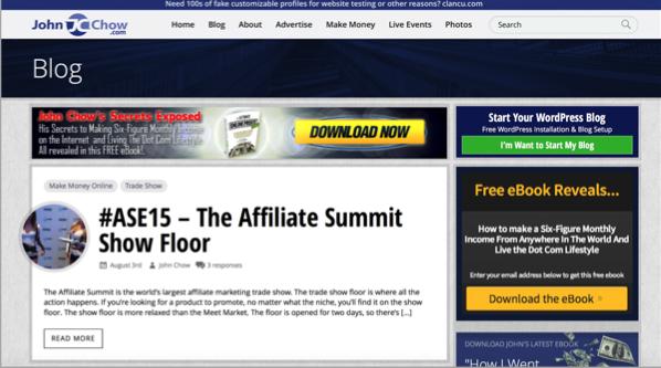 John Chow - Top 50 Marketing Blogs