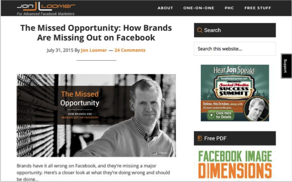 Jon Loomer - Top 50 Marketing Blogs