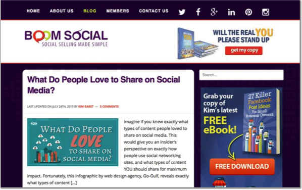 Kim Garst - Top 50 Marketing Blogs