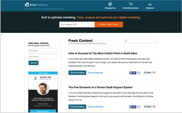 KissMetrics - Top 50 Marketing Blogs