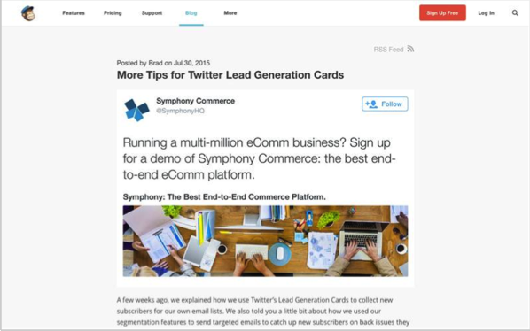 MailChimp - Top 50 Marketing Blogs