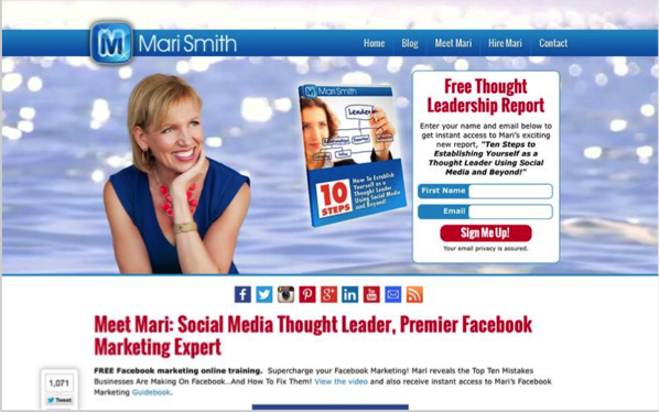 Mari Smith - Top 50 Marketing Blogs