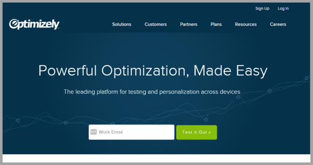Optimizely - landing page