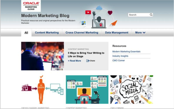 Oracle - Top 50 Marketing Blogs