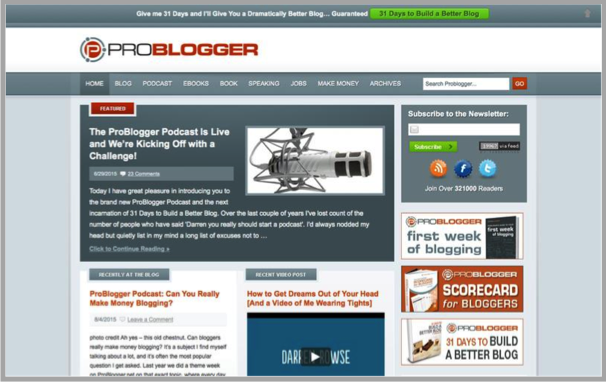 Problogger - Top 50 Marketing Blogs