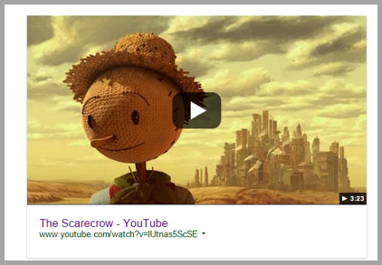 Scarecrow youtube image - content marketing strategy to sell products online