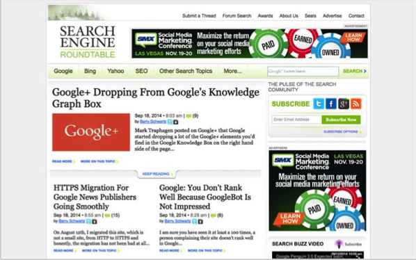 Search Engine Roundtable - Top 50 Marketing Blogs