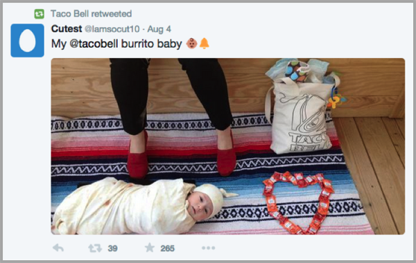 Taco bell twitter example to launch your app
